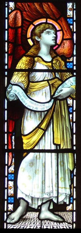 StMabyn North aisle3, left-hand angel