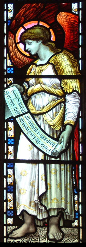 StMabyn North aisle3, right-hand angel