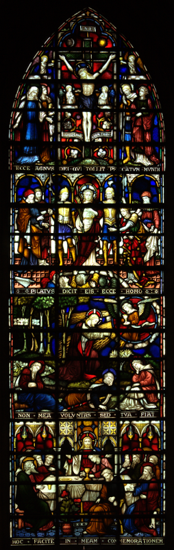 The centre light of the lower east window