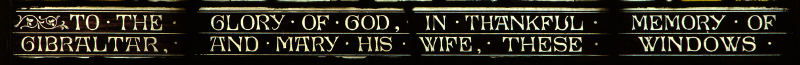 Left-hand side of s16, s17 inscription
