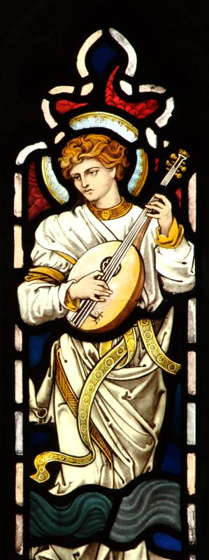 Brampton, angel playing lute