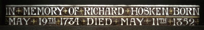 Inscription at bottom of a