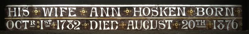 Inscription at bottom of b