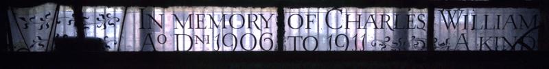 Inscription at bottom of third light