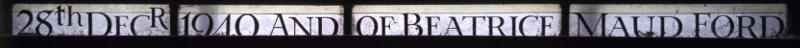 Inscription at bottom of second light