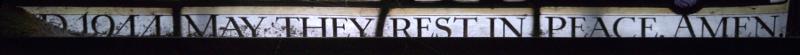 Inscription at bottom of right-hand light